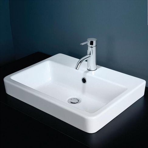 Basa Vanity Basin Inset White 1TH