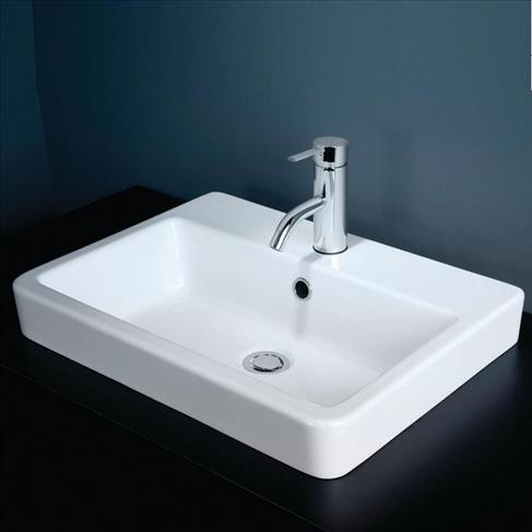 Basa Vanity Basin Inset White 3TH