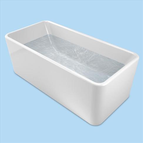 Cube Bath Free Standing 1600 White