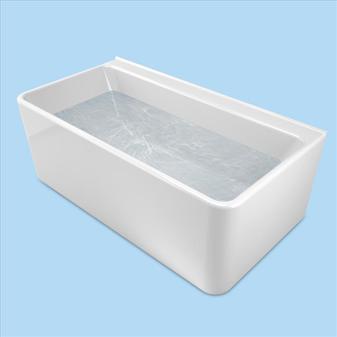Cube 1600 Wall Faced Free Standing Bath White
