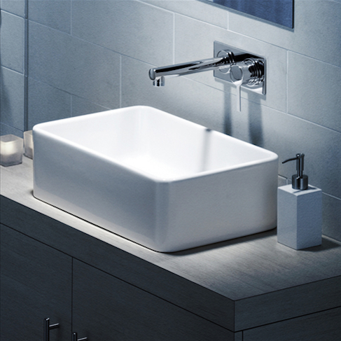 Cube Above Counter Basin 500