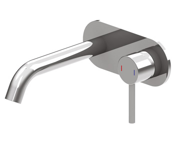 Harmony Senza Wall Basin Mixer Chrome