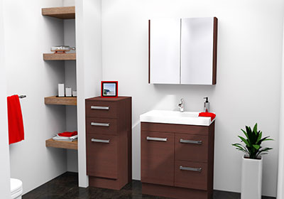 Timberline Bargo Vanity 750mm B75GF   SD75   BE105F